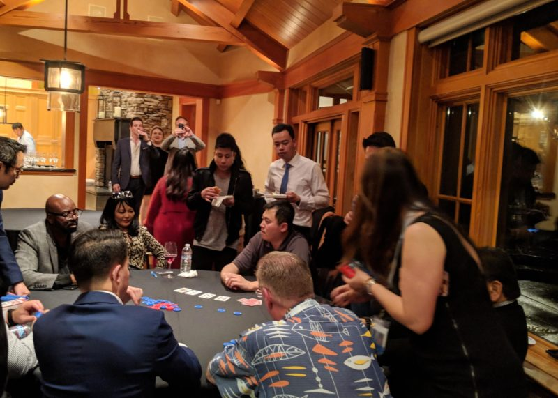 Above: AREAA Global + Luxury Summit VIPs attended a poker night at the historic Lawtonwood Estate represented by Jennie Robbs and Jay Kipp of RSIR.