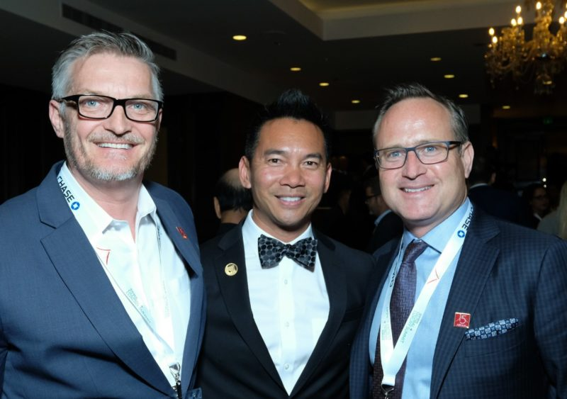 Above: AREAA National President Randy Char is flanked by Jeff McDonald (left) and Dean Jones (right) representing Realogics Sotheby's International Realty and KODA Condominiums during the Seattle AREAA exposition.