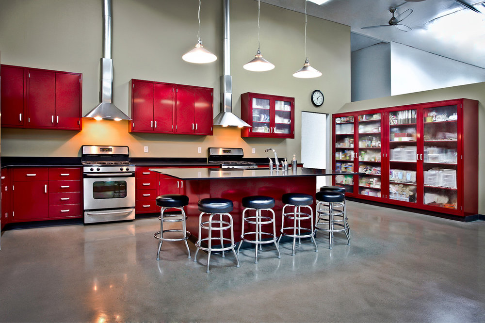 Tri-digital group - - Vibrant imperial red food photographers industrial kitchen