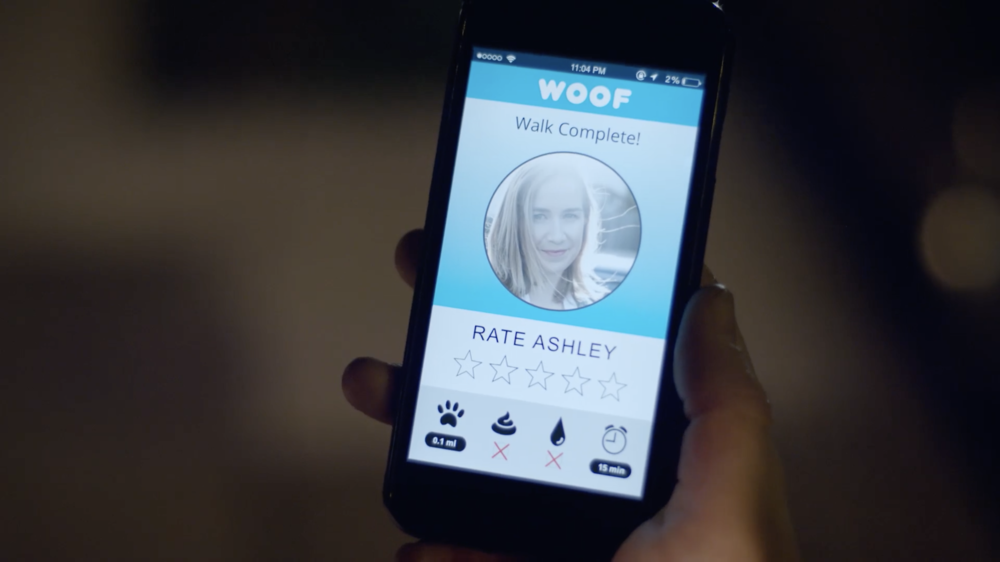 """WOOF"" walker rating screen"