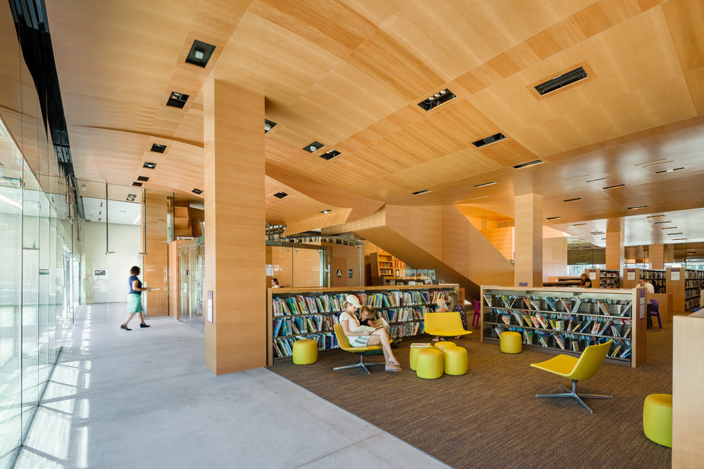 Children's library looking south