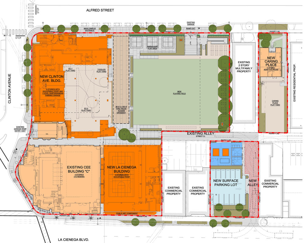 Campus site plan at completion