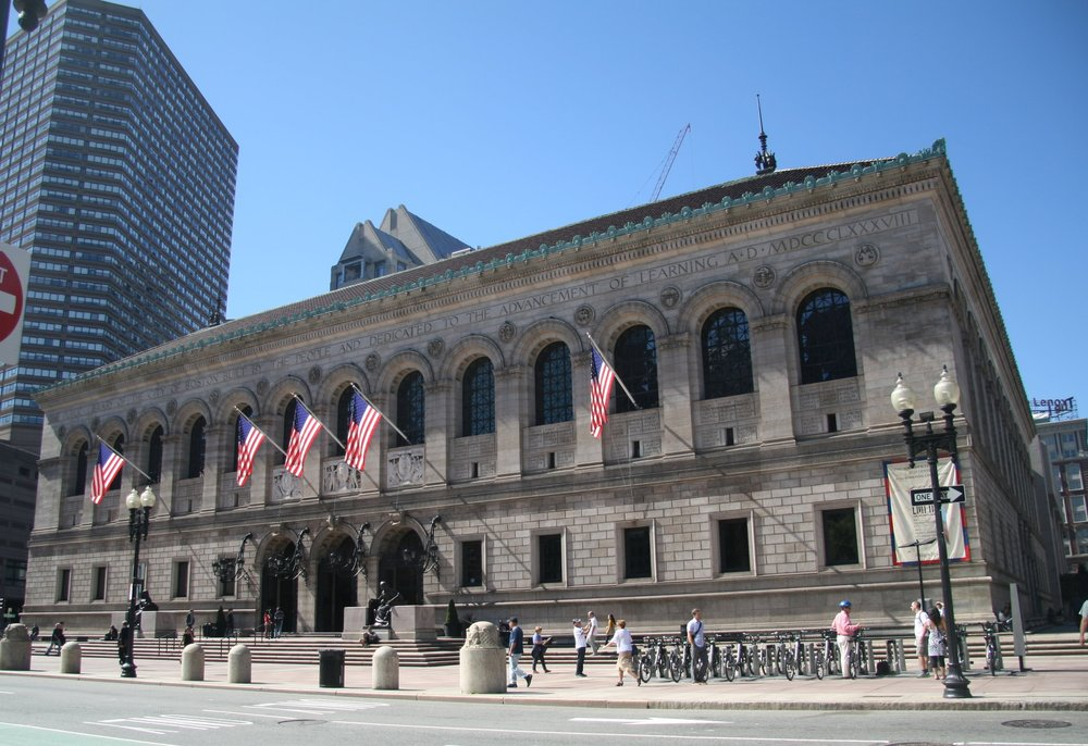 Modeled on palaces of princes the Boston Public Library and others like it across pre-war America were built in honor of democracy and the people for whom our nation was established.