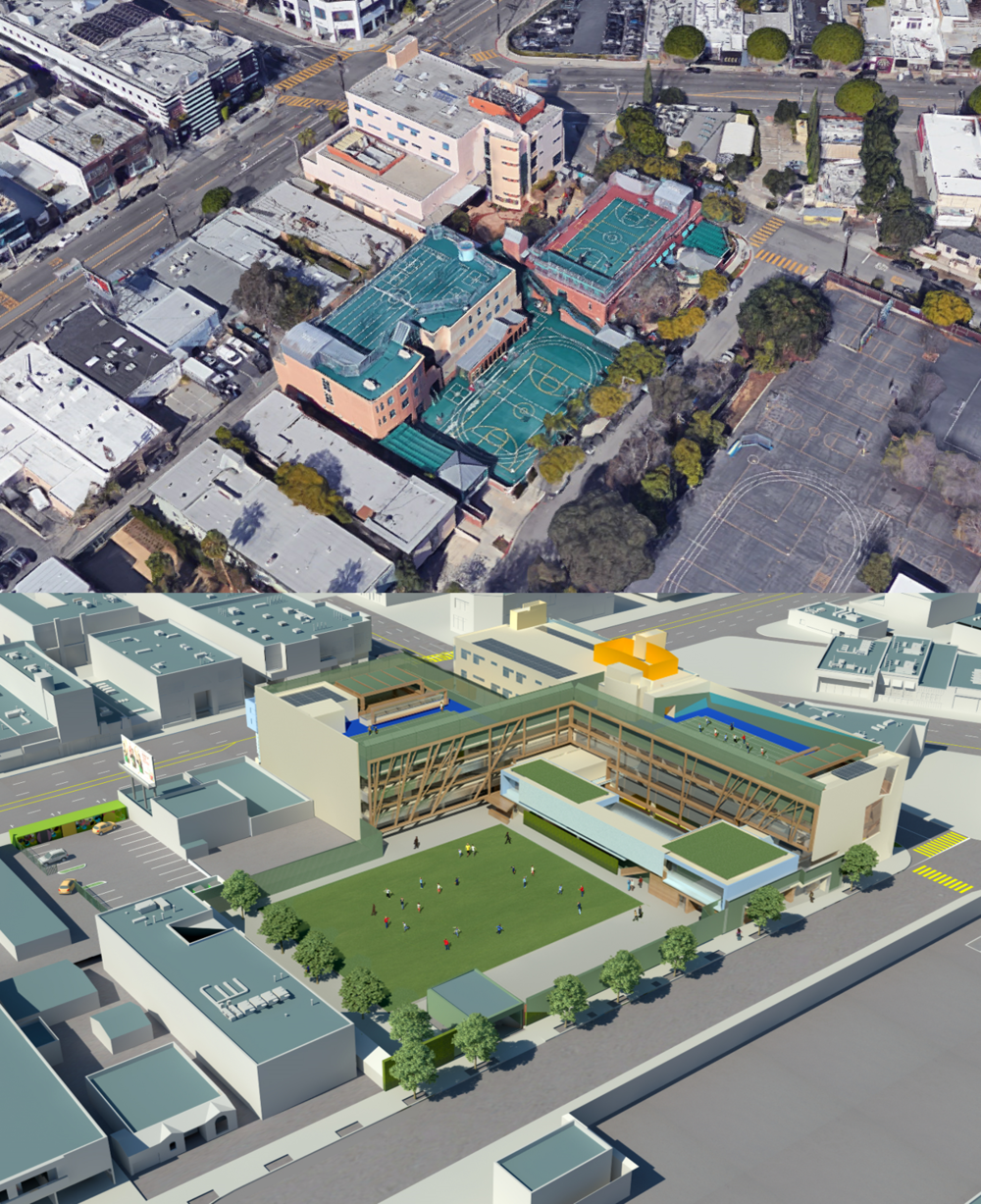 This school in West Hollywood, CA educates 540 students and at completion of redevelopment will reside in a 100,000 SF four-story building on about 2 ¼ acres
