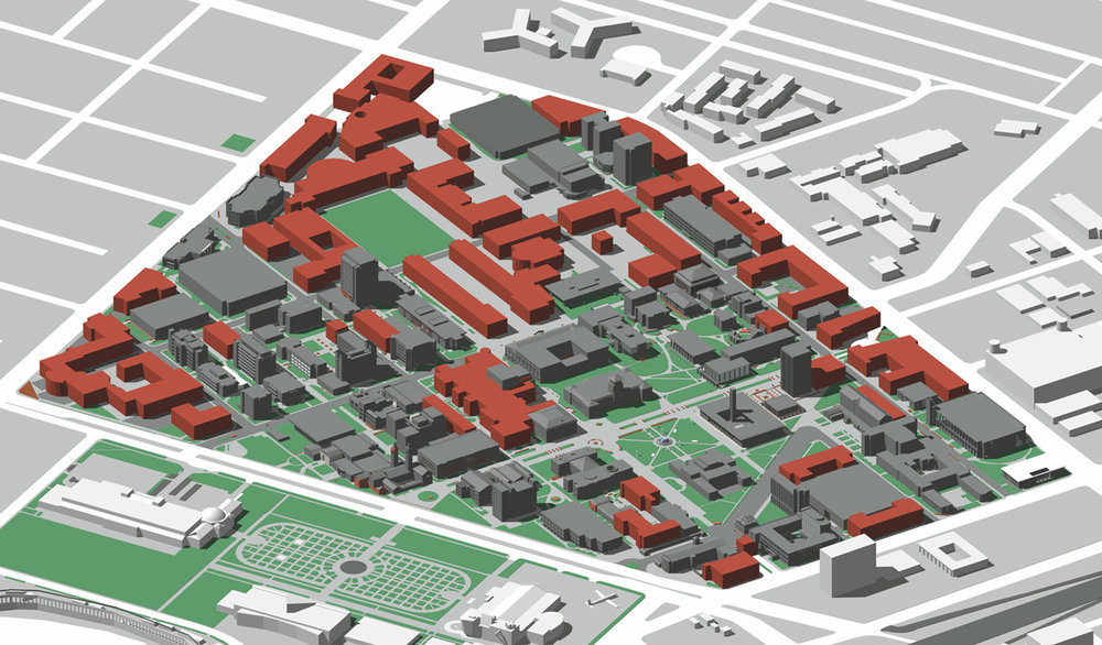 USC site development plan with phases 1 and 2