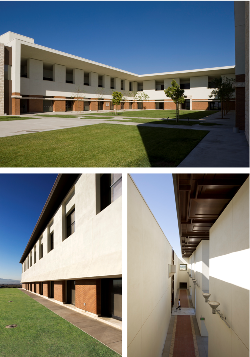ESSENTIAL CAMPUS This 60,000 SF building was the first built for a new campus on a 100-acre former cow pasture in the San Gabriel valley in southern California. Its purpose is to create a microcosm of a college campus in service to the college's first five thousand students.