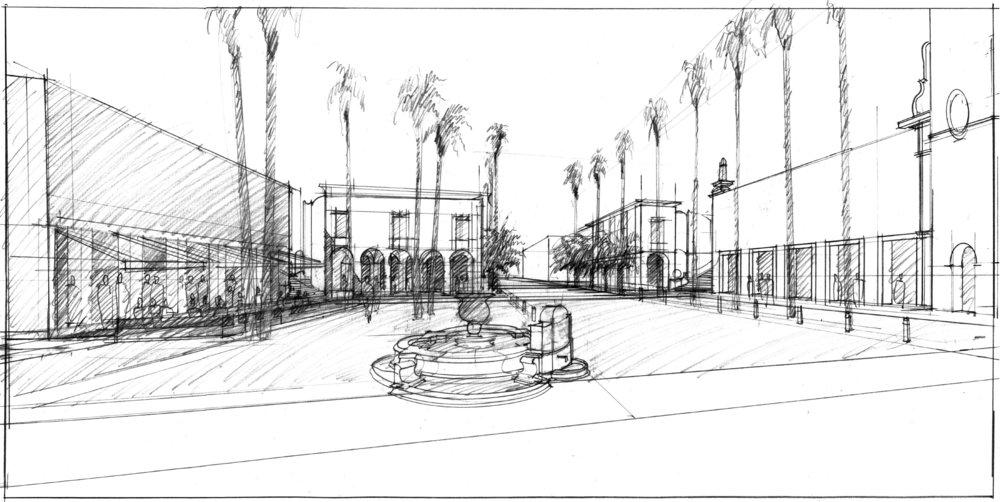 Huntington Park perspective sketch