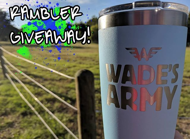 The final #JoinTheFightFriday during Childhood Cancer Awareness Month is upon us! Wear your Wade's Army Uniform tomorrow and share a pic for your chance to win this limited edition @yeti rambler.  Entering to Win is easy:  1) Rock your Wade's Army uniform Friday, 9/28/18 2) Snap a photo and post it on @Instagram  3) Tag @wadesarmy and include the hashtags: #wadesarmy, #LeadTheCharge, and #JoinTheFightFriday  Don't have a Wade's Army uniform?  Head to give.classy.org/wade to grab yours today!  You can also grab a rambler by signing up to fundraiser and crossing the $1000 mark. Head to give.classy.org/wade and click 'Become A Fundraiser' then select the initiative you want to support:  1. International Neuroblastoma Research Initiative 🔬 2. Direct financial support of family battling neuroblastoma 👪 3. Green Kitchen in Children's Hospital 🥦 4. Wade's Army operation costs 👷  LINK IN BIO  #wadesarmy #LeadTheCharge #battleneuroblastoma #NervesofSteel #UseYourPowerForGood #wadesday #jointhefight #neuroblastoma #awareness #pediatriccancer #morethan4 #GoGold🎗️ #YETI🎗️