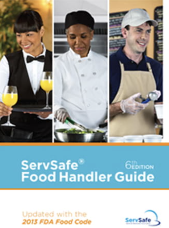 ServSafe FoodHandler Training**   $59pp: A 2.5 Hour Training with textbook, and certification quiz w. certification upon successful completion of quiz and course.  *Upon successful completion of the exam, participants will receive a certificate from the National Restaurant Association's Educational Foundation