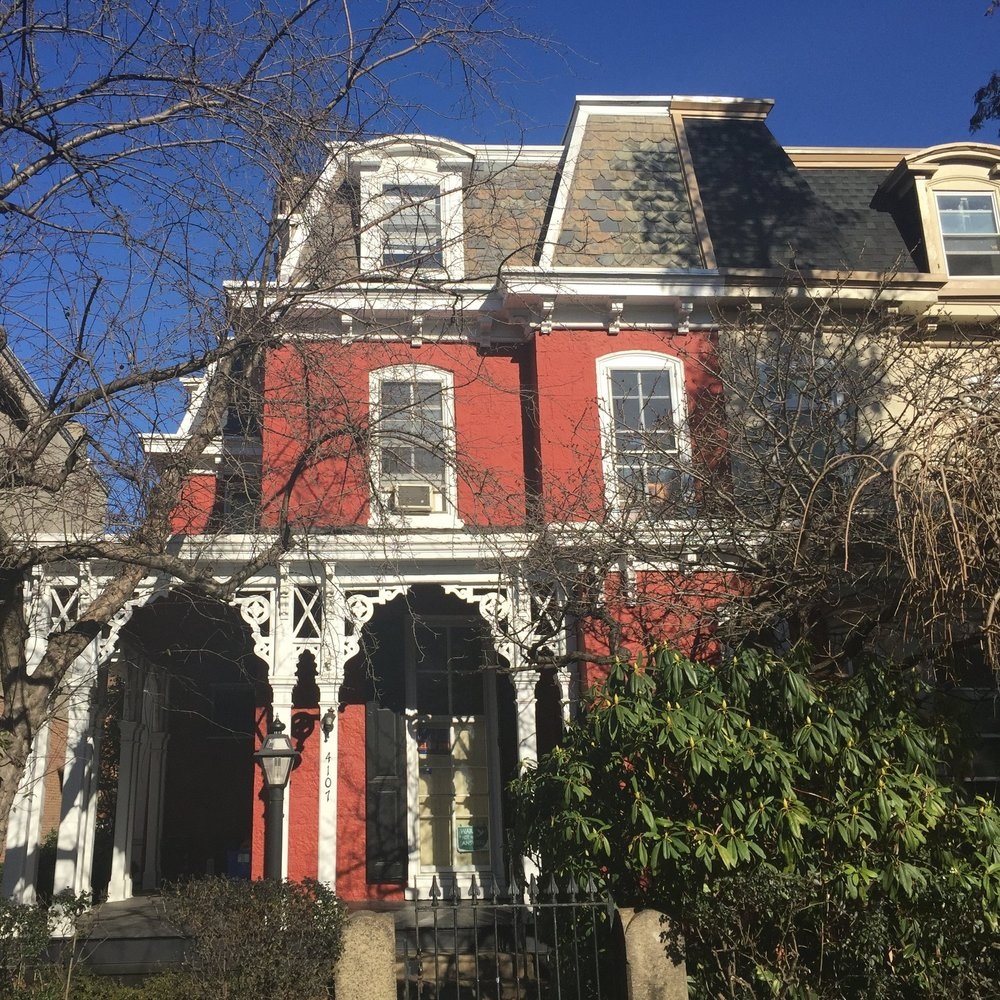 A West Philadelphia mansard-style townhouse for which we provide periodic concierge slate repair and replacement services.