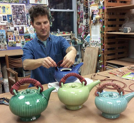 Neil Patterson - Neighborhood Potters2034 Fairmount Ave, Philadelphia, PA 19130Neil Patterson has been making pots for thirty-nine years. Neil has a BFA from the Cleveland Institute of Art and an MFA from Louisiana State University. He was a core student at Penland for two years and spent a year studying Ceramics at the Cardiff Institute of Higher Education in Wales. He has been an artist in residence at The Clay Studio in Philadelphia and teaches part-time at a few local colleges. Together with his wife Sandi Pierantozzi he teaches at their studio in Philadelphia.