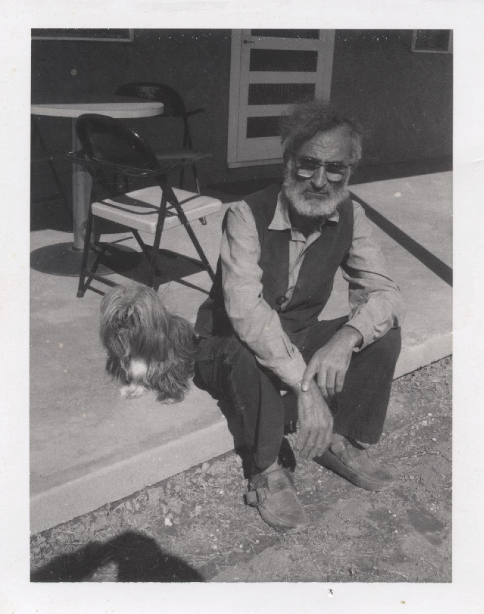 Milton Resnick with his Lhasa Apso Ping Pong