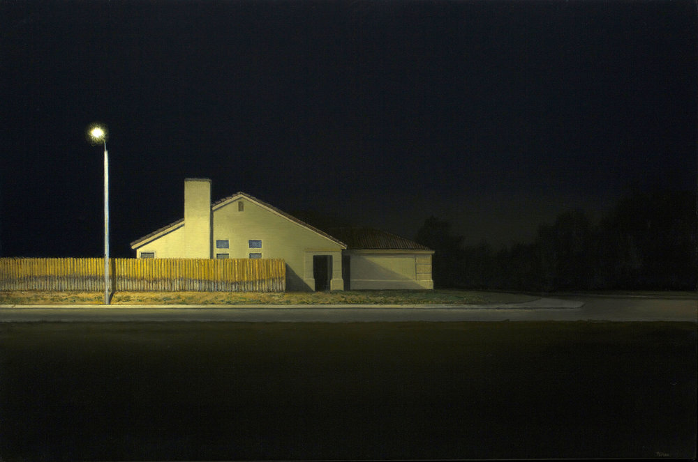 "AMoCA Collection  |  Tract House , oil on linen, 20""x30"", 2014"