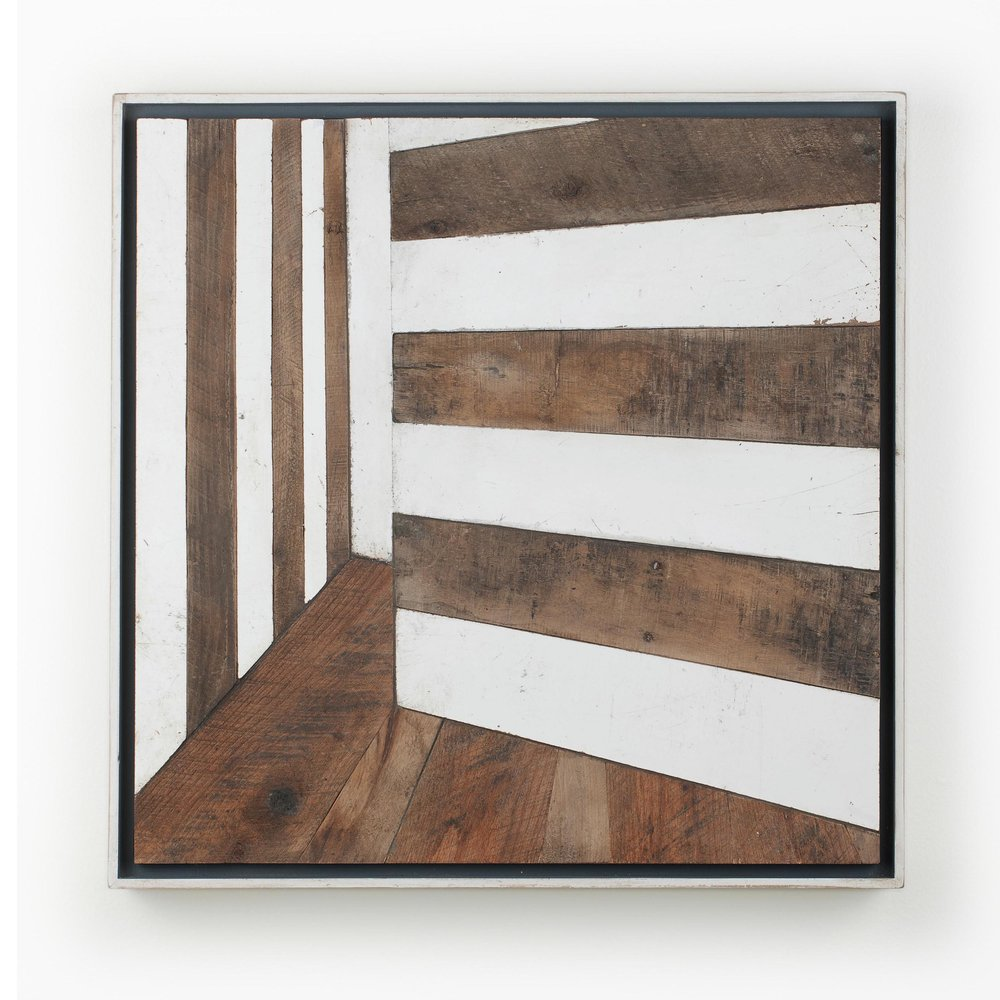 "AMoCA Collection  |  Pallet House (Room 1) , 24""x24"", wood, 2013"