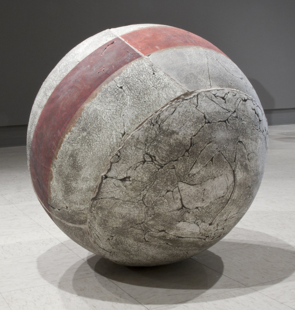 "AMoCA Collection  |  All Used Up , ceramic, wood, adhesive, 30""x30""x30"", 2012"