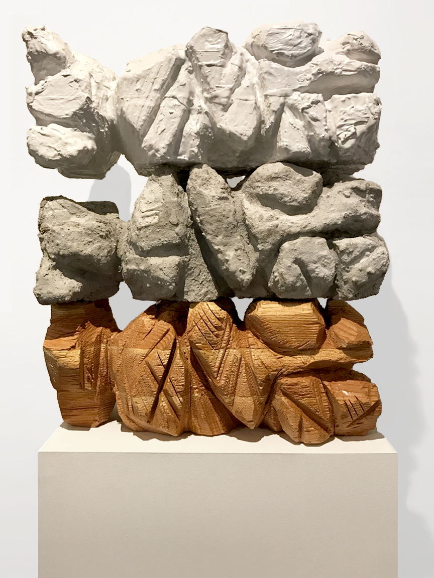 AMoCA Collection  |  Siblings , wood, cement, plaster, 2016