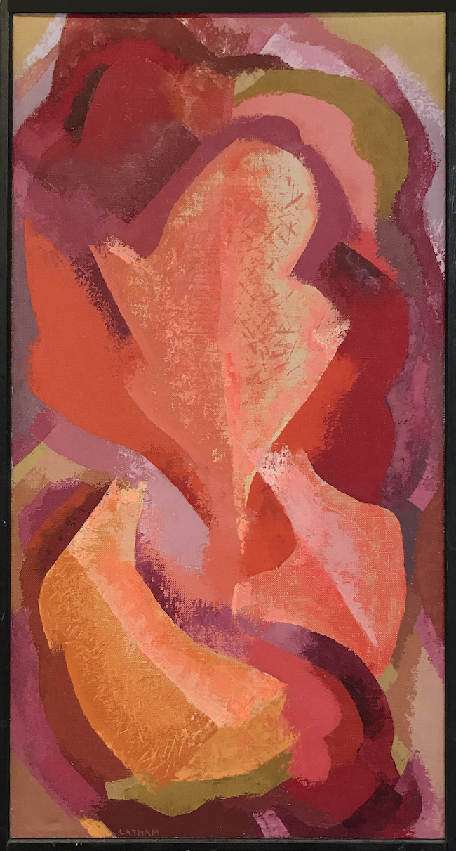 "AMoCA Collection |  Untitled , oil on canvas, 25""x12.5"", 1970"