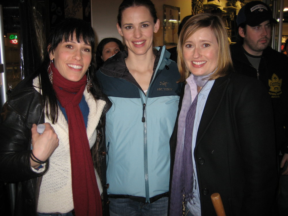 JUNO FEATURE FILM FROM LEFT TO RIGHT: ROBYN ROSS, JENNIFER GARNER, WENDY RUSSELL, DIRECTOR JASON REITMAN