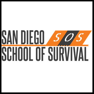 San Diego School of Survival   SDSOS has been exploring all over Southern California, from leading hiking trips to searching through abandoned mines, and would love to share our paths and tips for surviving in this less than harsh desert climate that we call home. We would also like to stop seeing our fellow San Diegans on the 5 o'clock news because of simple mistakes. The San Diego School of Survival is an effort by a few Military Veterans to impart our knowledge and experience upon any who are interested.