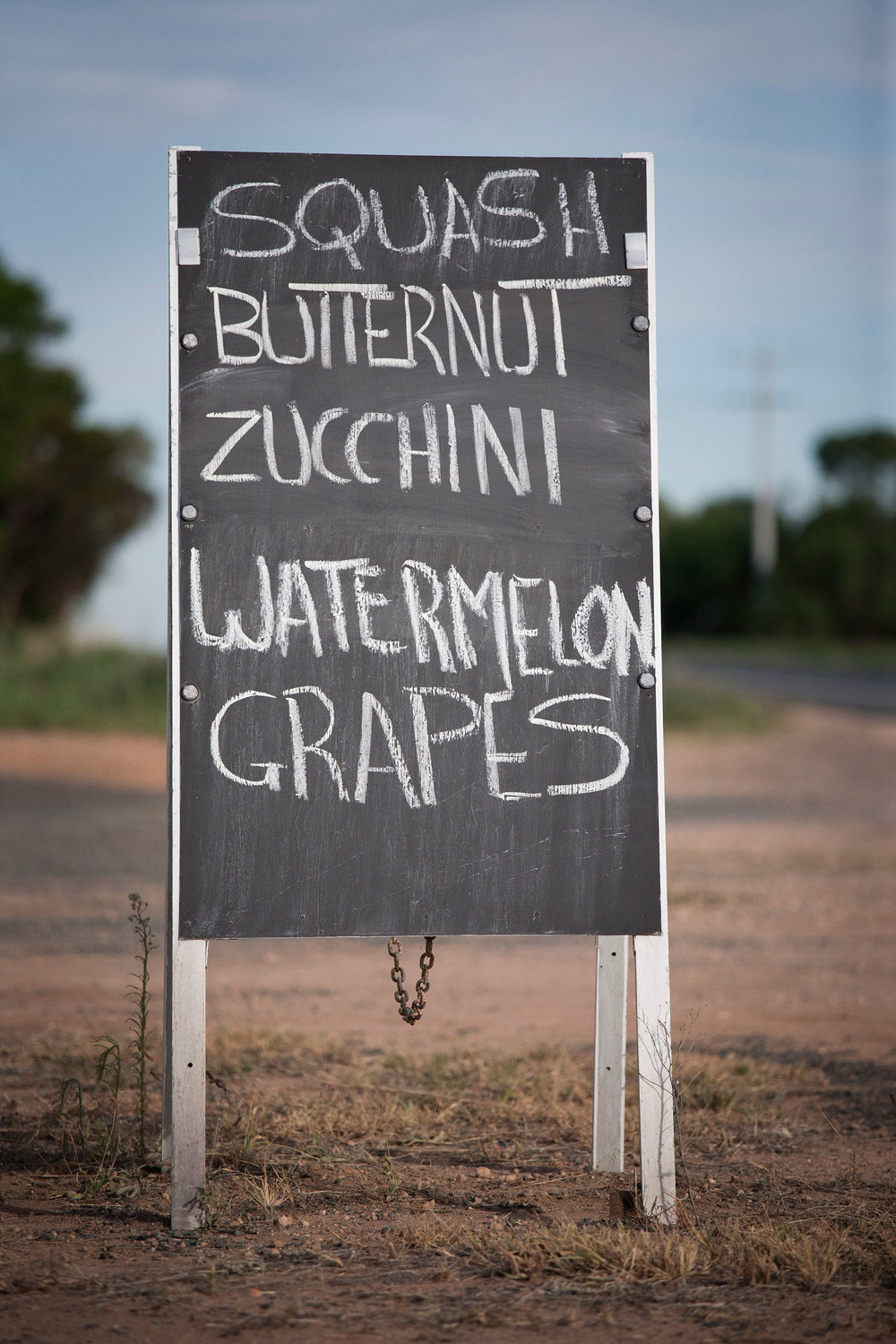 Roadside stall sign, Yelta, VIC.