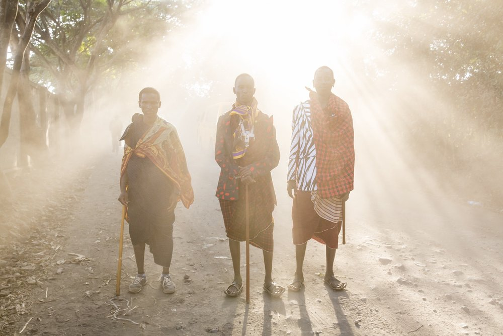 Front, left, and right: Papakinye Lemolo Ngaiyani, Siphael Shomet and Lebaati Yakobo. Photo: Christian Rodriguez