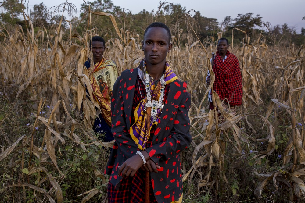 Maasai prints meet Nigerian-European hybrid fashion. Photo: Christian Rodriguez