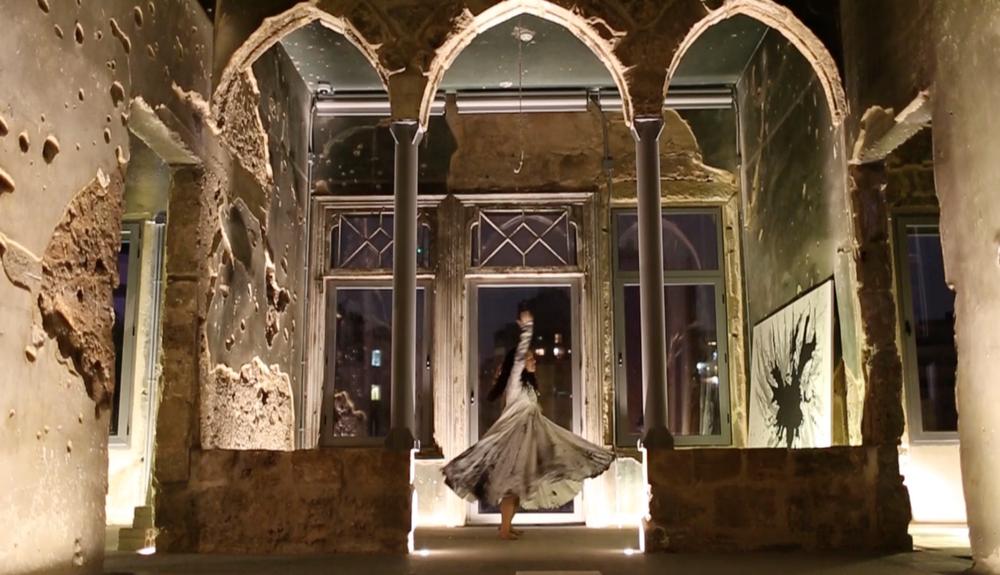 Zena el Khalil stages Healing Lebanon in historic building Beit Beirut, in Beirut,Lebanon.