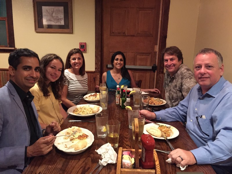 Prosanta Chakrabarty  (far left) is an ichthyologist, associate professor in the Department of Biological Sciences at Louisiana State University and TED Fellow. His supper, hosted August 2018, had a twist: Chakrabarty offered guests a tour of the university's Museum of Natural Science, where they got a behind-the-scenes look at the collections of birds, mammals, reptiles, amphibians and fishes before dinner.