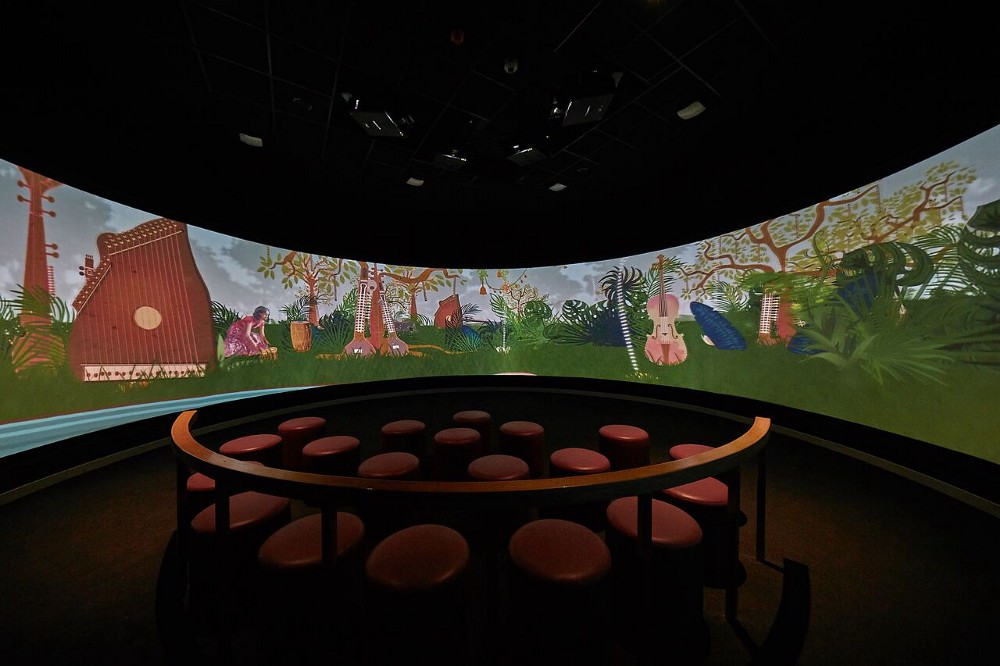 State of the art theatres, instrument galleries and interactive timelines take visitors on an immersive journey through Indian music history.