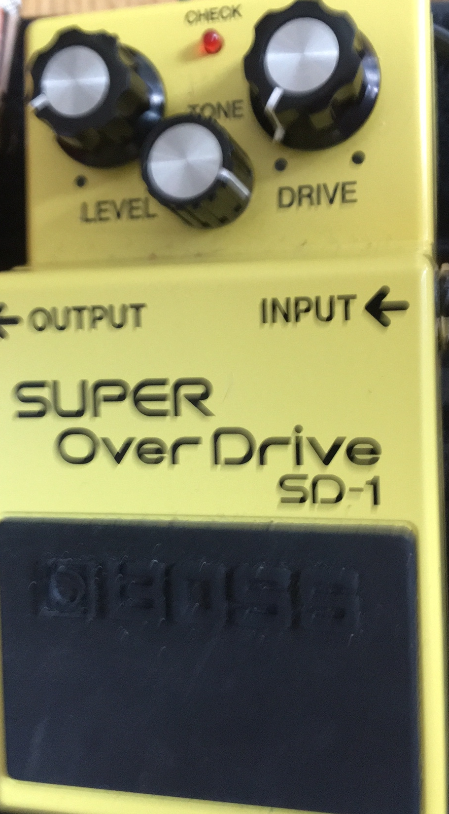 7 Over drive pedal - A overdrive pedal basically distorts your sound and makes it sound more aggressive ( there's a lot you can do with it to sound less aggressive and more ambient)- but the best way to understand this is to try it yourself). This pedal is made by BOSS who have a very good reputation for creating sturdy great sounding pedals.