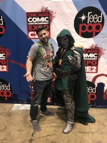 Batman's Bookcase contributor Brandon Evans is not intimidated by Doctor Doom at C2E2.