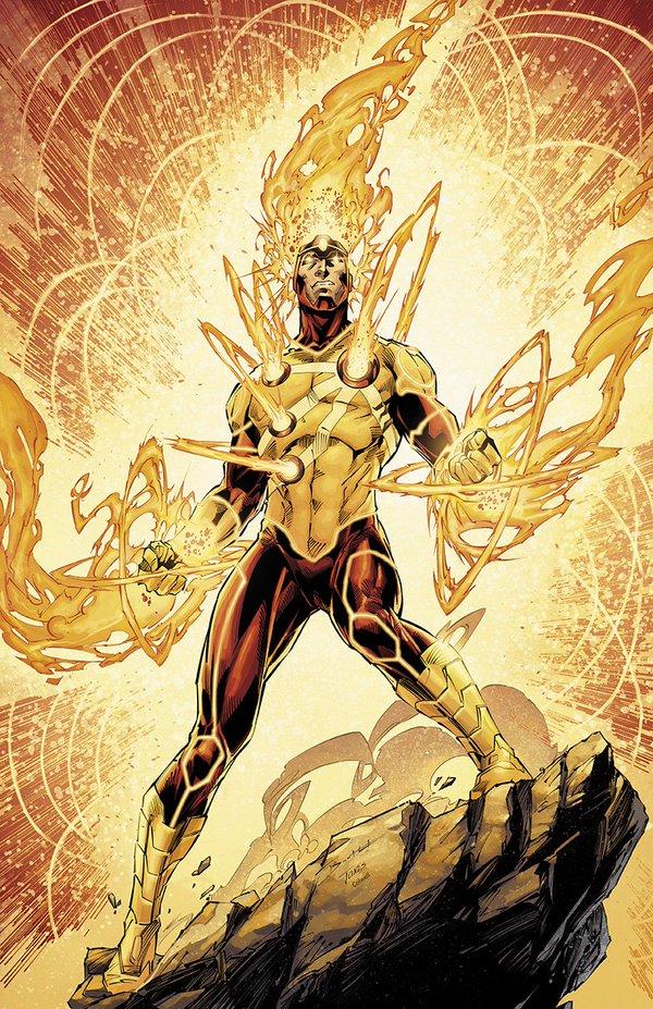 The nuclear superhero Firestorm.