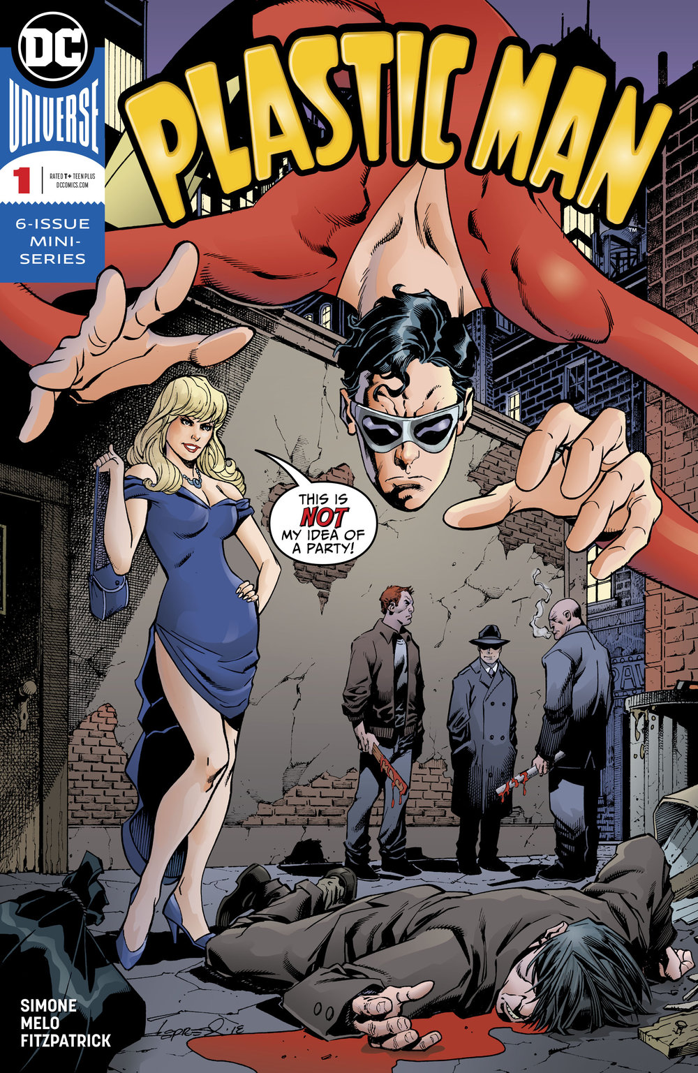 Plastic Man #1 cover by Aaron Lopresti.