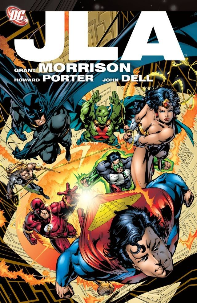 Grant Morrison's all-time great  JLA  run in the late '90s envisioned the League as a pantheon of gods.