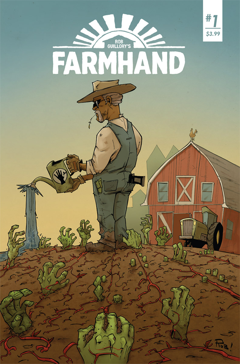 Farmhand #1  mixes body horror, espionage, and father-son drama.