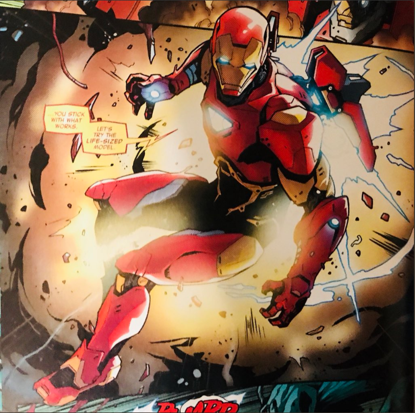 Valerio Schiti draws a good-looking Iron Man.