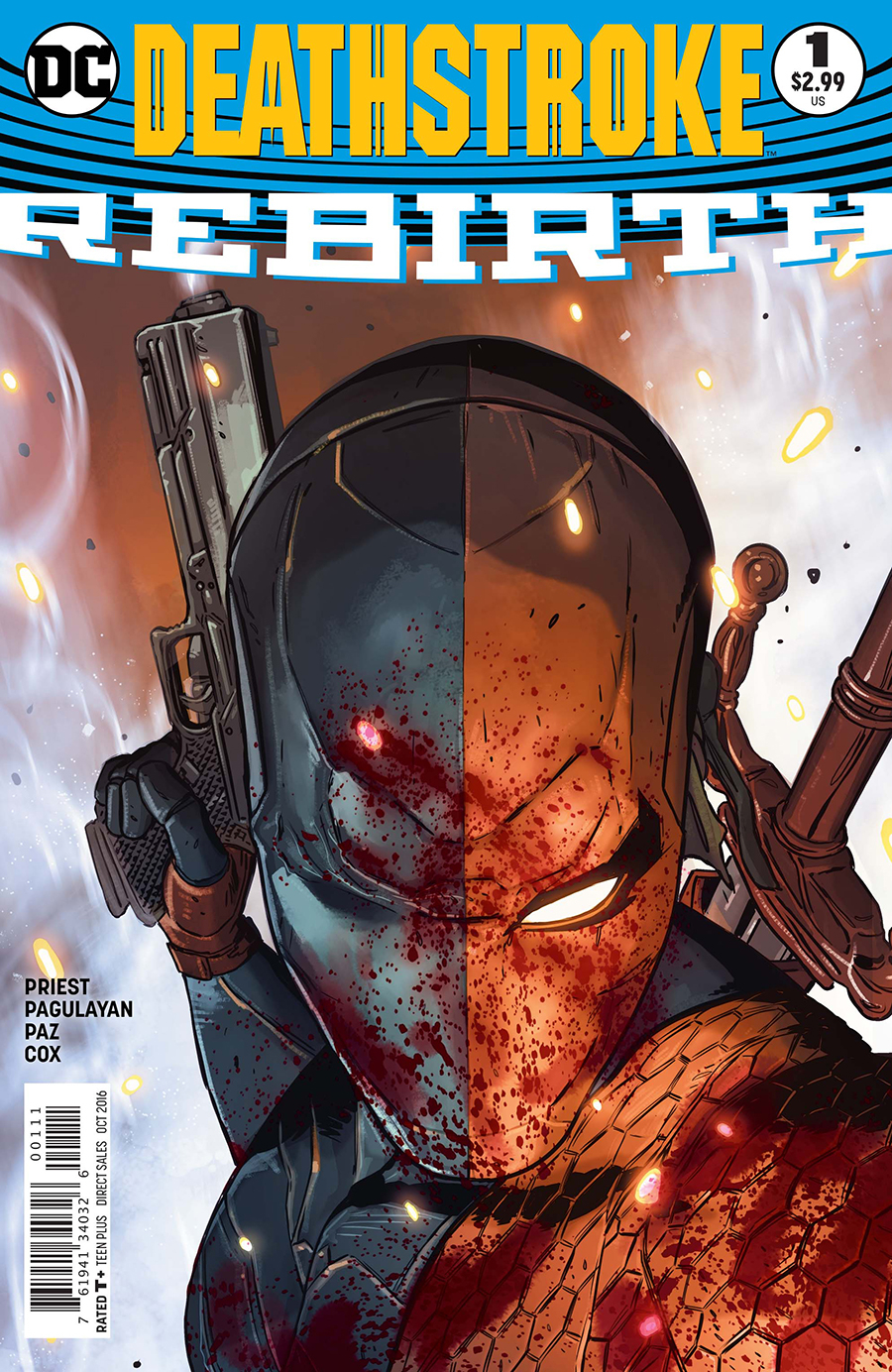 From the start, Christopher Priest's run on  Deathstroke  has been about fatherhood and regrets.