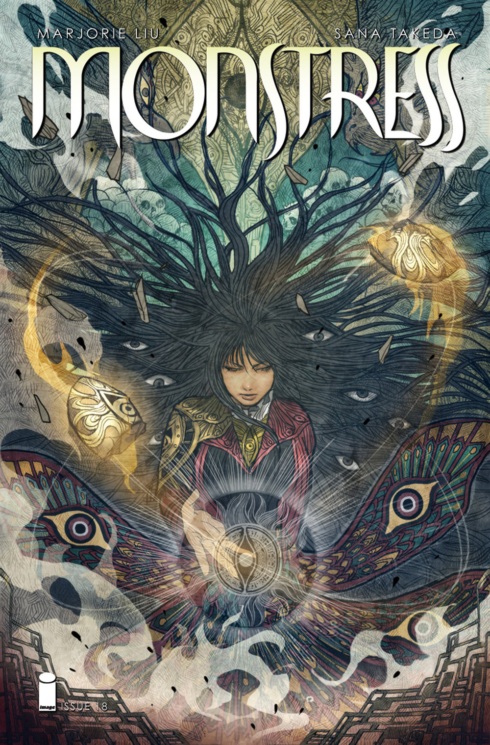 Monstress #18  is the crashing finale to this Eisner-nominated comic's third arc.