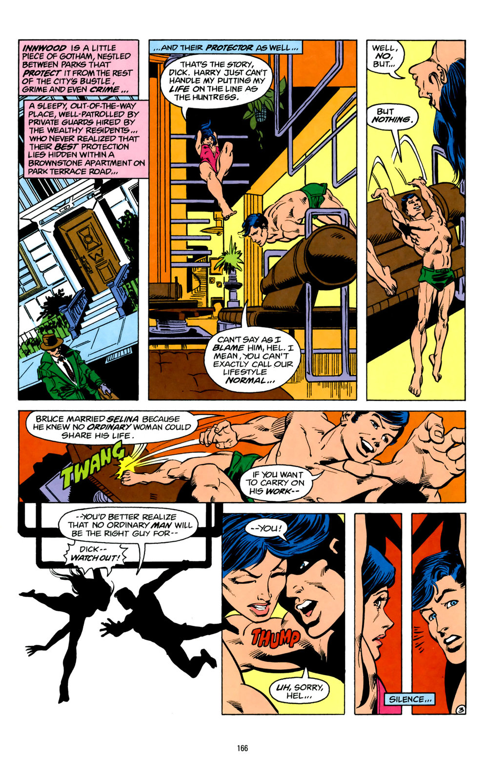 While not as important as her relationship with Power Girl, Helena's friendship with  Golden Age  Dick Grayson is also worth revisiting.