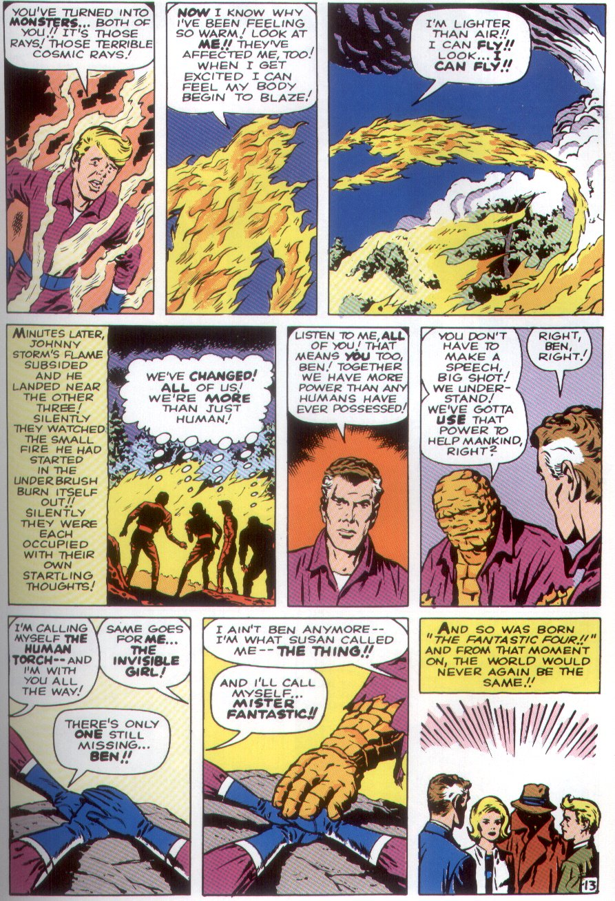 The pages in  Fantastic Four (1961)  all feature more than 9 panels, a stark contrast to today's often less-dense superhero comics.