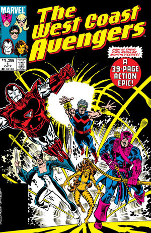 West Coast Avengers #1  from 1985.