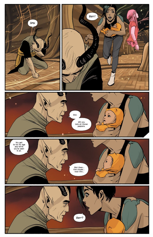 Saga #11  features one of the series' first devastating sacrifices made for family…but far from the last.