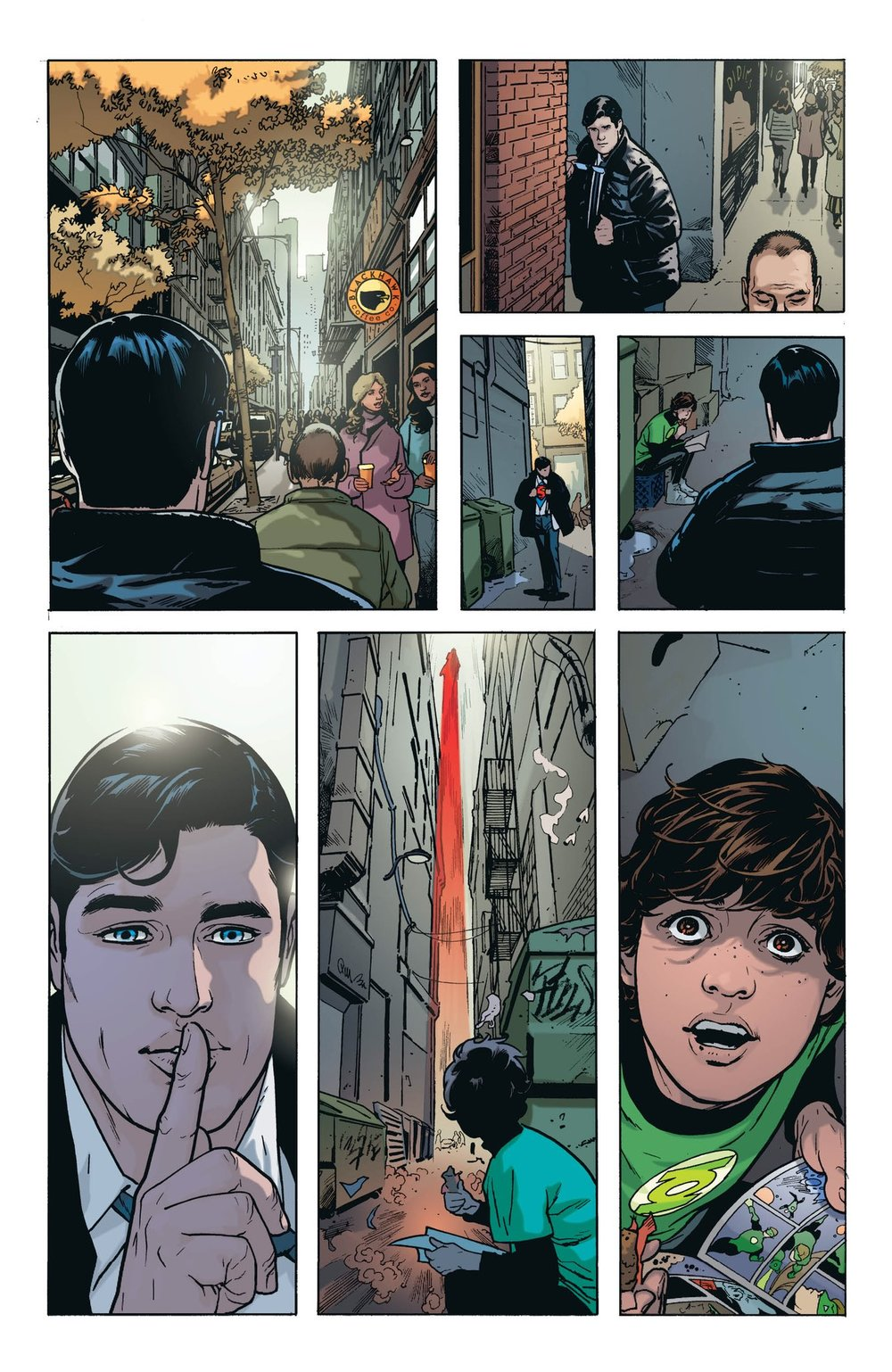 This gem by Ryan Sook and Brad Anderson from  Action Comics #1006  is quite possibly the comic book page of the year.