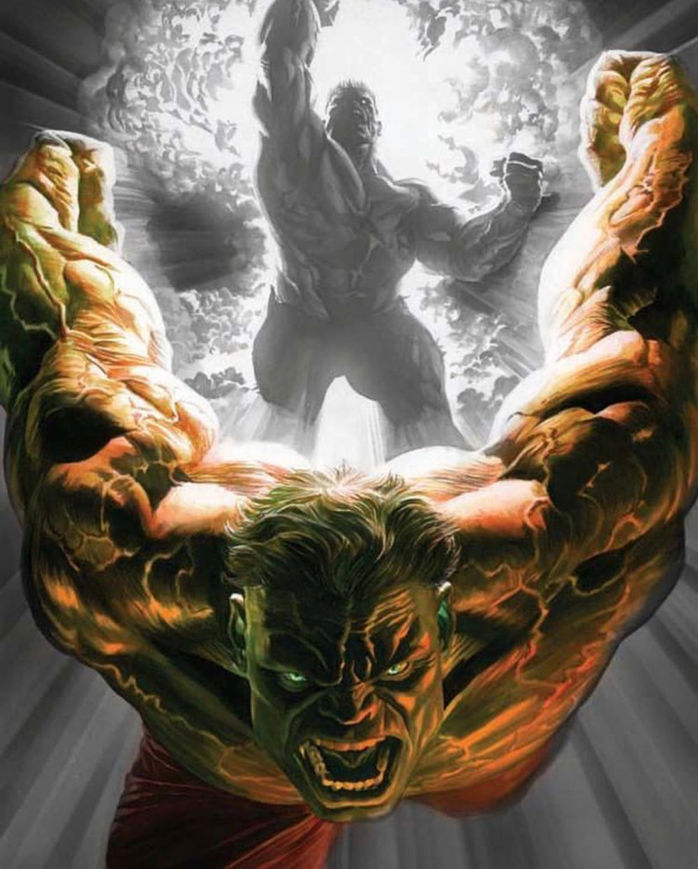 The Immortal Hulk  by Alex Ross.