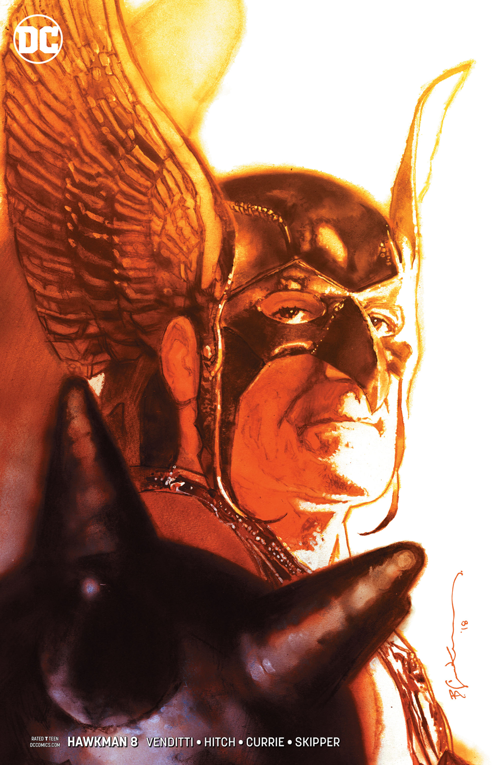 Hawkman #8  variant cover by Bill Sienkiewicz.