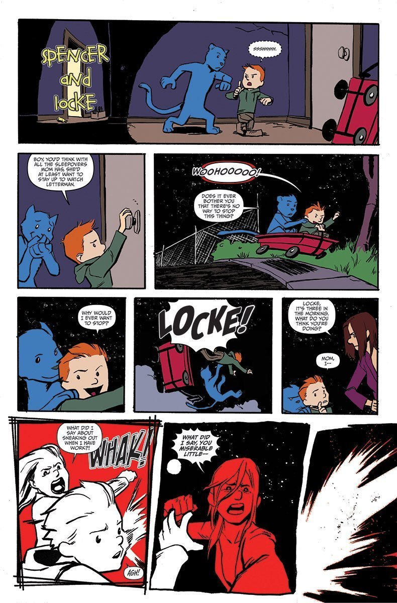 A Bill Watterson pastiche from  Spencer & Locke Vol. 1.