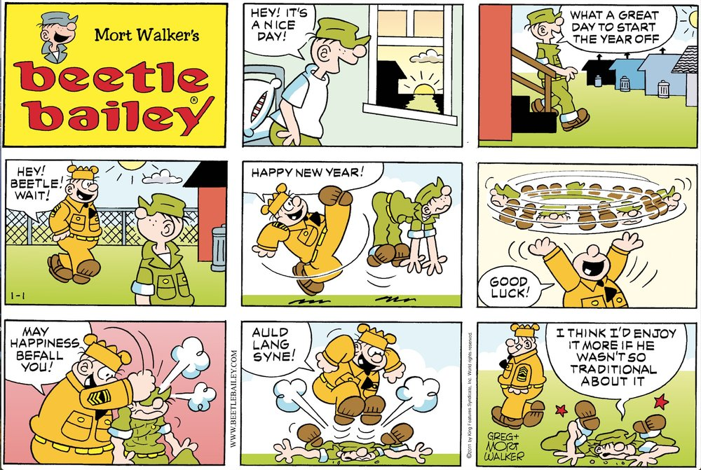 Mort Walker's  Beetle Bailey  comic strip.