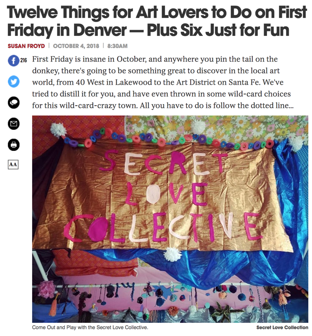 Twelve Things for Art Lovers to Do on First Friday in Denver — Plus Six Just for Fun - https://www.westword.com/arts/things-to-do-for-art-lovers-in-denver-on-first-friday-october-2018-10864317
