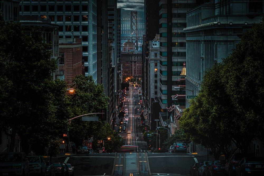 San Francisco financial district business buildings