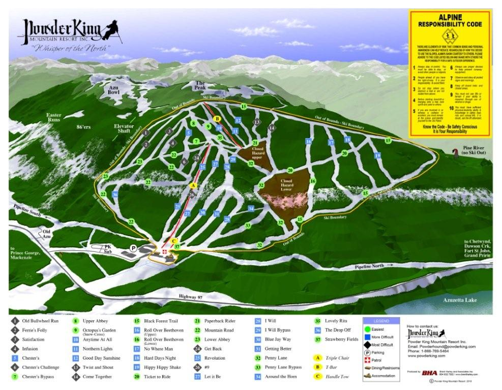 Powder King Trail Map